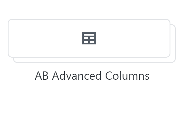 Atomic Blocks Advanced Columns block