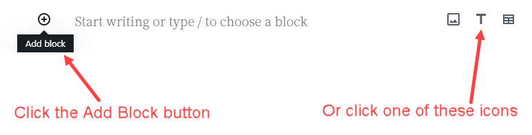 Adding a new block in our Atomic Blocks newbie tutorial page.