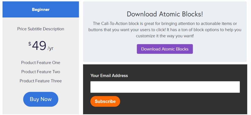 Examples of Atomic Blocks.