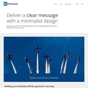 Screen shot of clear message web design.