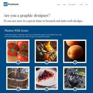 Screen shot of Graphic Designer's web design.